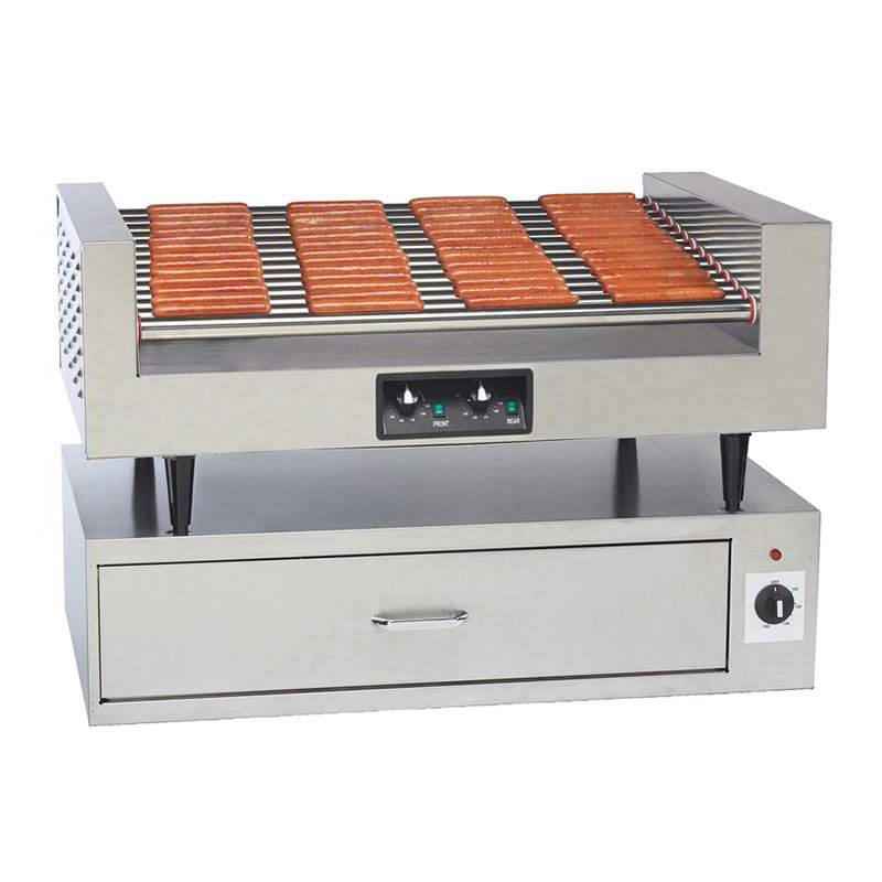 Gold Medal 8225PE Hot Diggity Grill w/ 14-Rollers & 78-Hot Dog Capacity, Non-Stick