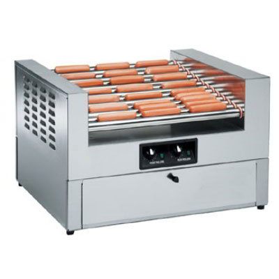 Gold Medal 8324SL Lil Diggity Grill & Bun Cabinet Combo w/ 10-Slanted Rollers & 27-Hot Dog Capacity