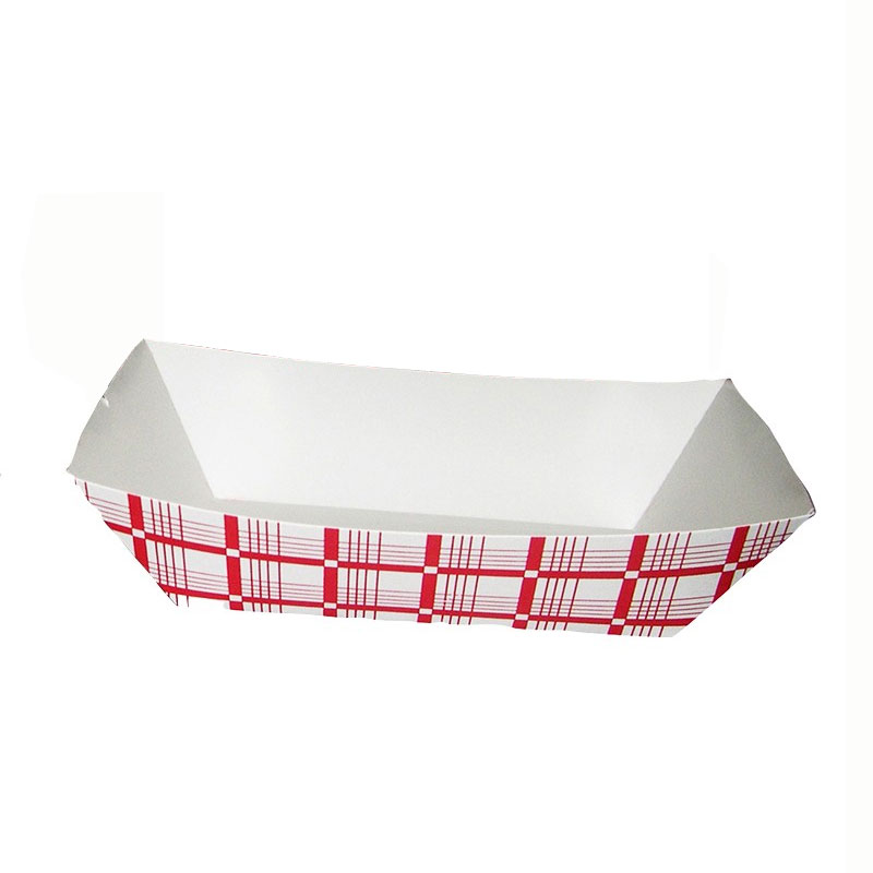 Gold Medal 9103 Disposable Food Tray, Red & White, 500/Case