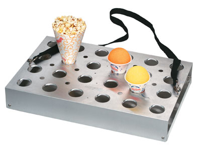 Gold Medal 1072 3-Way Universal Vend Tray w/ Strap & Handle, Aluminum Drip Tray