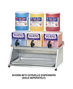 Gold Medal 1073 Horizontal Dispense Rack w/ 3-Syrvelle Capacity, Aluminum