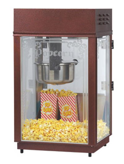 Gold Medal 1871 120208 Heavy Duty Popcorn Machine w/ 6-oz EZ Kleen Kettle & Etched Glass, 120/208V