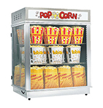 Gold Medal 2004N Astro Pop Staging Cabinet w/ Forced Hot Air Corn Freshener System, Neon Sign