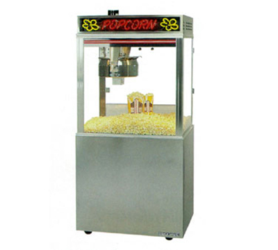 Gold Medal 2010EB 120240 Astro-Pop Popcorn Machine w/ 20-oz Kettle & Base, 120/240V