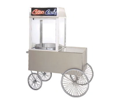 Gold Medal 2013ST Popcorn Wagon w/ 4-Spoke Wheels, Stainless, 62x34-in