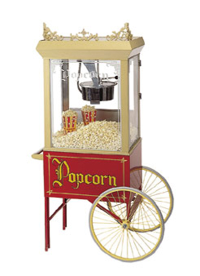 Gold Medal 2015 Popcorn Wagon w/ 2-Spoke Wheels, Red, 20x28-i