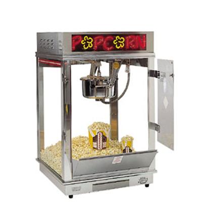 Gold Medal 2023EN 120240 Astro Pop 16 Popcorn Machine w/ 16-oz Kettle & 2-Color Neon Dome, 120/240V