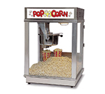 Gold Medal 2024ST 120208 Econo 16 Popcorn Machine w/ 16-oz Kettle & Red Stainless Dome, 120/208V