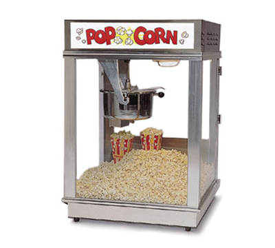 Gold Medal 2024 120208 Econo 16 Popcorn Machine w/ 16-oz Unimaxx Kettle & Red Dome, 120/208V