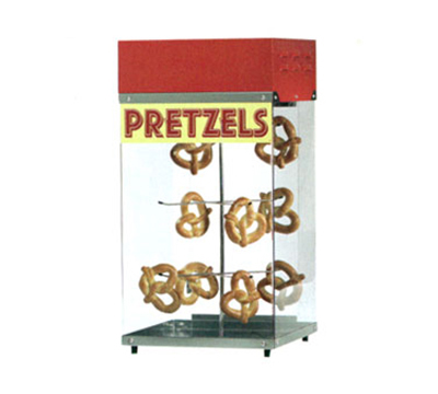 Gold Medal 2050 16-in Countertop Pretzel Display Case w/ Motorized Rack, Stainless Base
