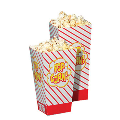 Gold Medal 2066 0.8-oz Small Scoop Disposable Popcorn Boxes, 500/Case