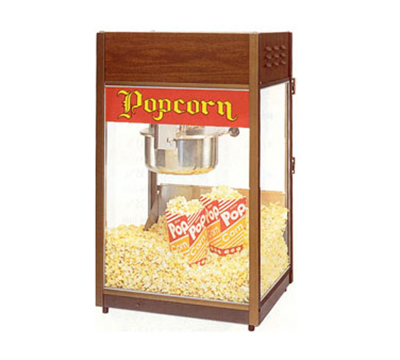 Gold Medal 2086 120208 Unimaxx P-60 Popcorn Machine w/ 6-oz Stainless Kettle & Cooper Dome, 120/208V