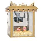 Gold Medal 2119 120240 Antique Citation Popcorn Machine w/ 16-oz Kettle & Gold Dome, 120/240V