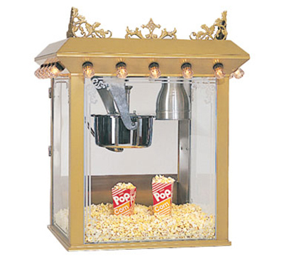 Gold Medal 2119 120208 Antique Citation Popcorn Machine w/ 16-oz Kettle & Gold Dome, 120/208V