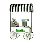 Gold Medal 2129HF Portable Shave Ice Wagon w/ 4-Spoke Wheels, Stainless, White