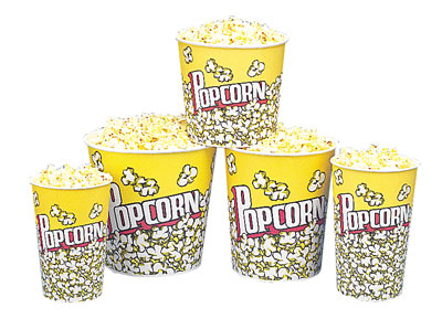 Gold Medal 2133PC 46-oz Popcorn Design Disposable Popcorn Cups,
