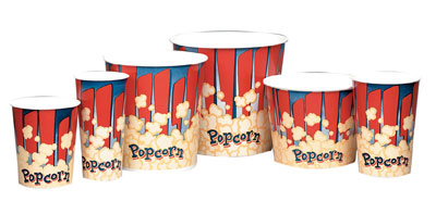 Gold Medal 2133RB 46-oz Red Disposable Popcorn Tubs, 1,000/Case