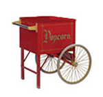 Gold Medal 2148CR 20-in Steerable Cart w/ 2-Spoke Wheels, Red