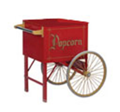 "Gold Medal 2148CR 20"" Popcorn Cart w/ 2-Spoke Wheels, Red"