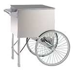 Gold Medal 2148ST 20-in Steerable Cart w/ 2-Spoke Wheels, Stainless
