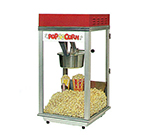 Gold Medal 2152 120208 Bronco Pop Heavy Duty Popcorn Machine w/ 8-oz Kettle & Red Dome, 120/208V