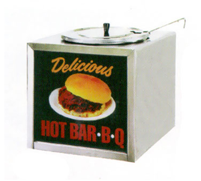 Gold Medal 2196 Barbecue Warmer w/ 2-oz Dipper & Adjustable Thermostat, Sign, Stainless