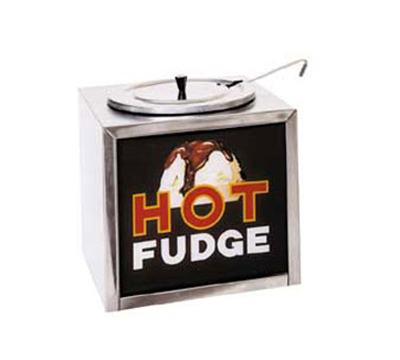 Gold Medal 2200 Dipper-Style Hot Fudge Warmer w/ Oversized Water Tank & Sign, Stainless Cabinet