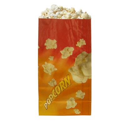 Gold Medal 2208 46-oz Orange Disposable Popcorn Bags, Laminated, 1,000/Case