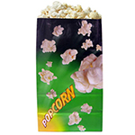 Gold Medal 2232 130-oz Green Disposable Popcorn Bags, Laminated, 500/Case