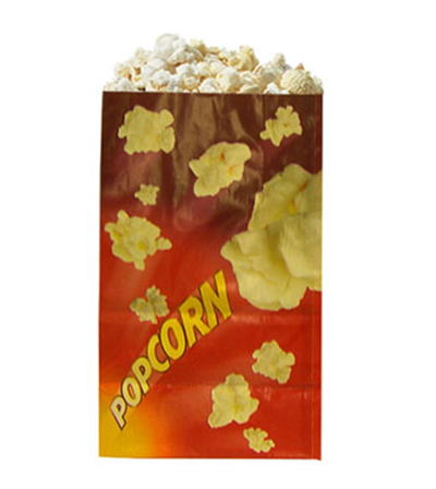 Gold Medal 2259 32-oz Red Disposable Popcorn Bags, Laminated, 1,000/Case