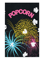 Gold Medal 2210B 170-oz Funburst Design Disposable Popcorn Bags, Laminated, 250/Case