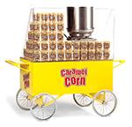 Gold Medal 2276 Lobby Master Caramel Corn Wagon w/ 4-Spoke Wheels, Yellow