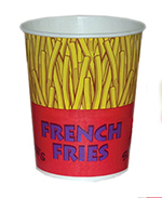 Gold Medal 2302 32-oz Printed French Fry Cups, 500/Case