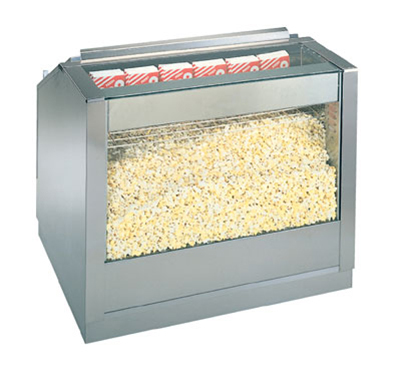 Gold Medal 2344 36-in Back Counter Staging Cabinet w/ Popcorn Crisping System