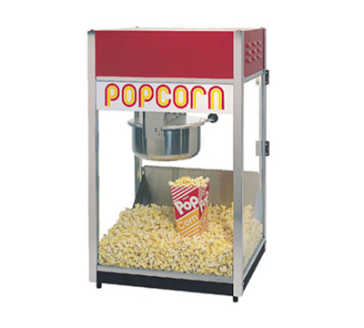 Gold Medal 2388 120208 Special 88 Popcorn Machine w/ 8-oz Kettle & Red Steel Dome, 120/208V