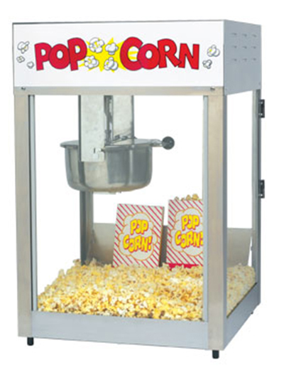 Gold Medal 2389 120240 Lil Max Popcorn Machine w/ 8-oz Kettle & Stainless Dome, 120/240V