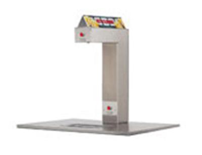 Gold Medal 2396A Single Head Popcorn Butter Dispenser w/ Open Dual Racks & Controls, Self-Serve