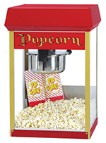 Gold Medal 2408 120240 FunPop Popcorn Machine w/ 8-oz EZ Kleen Kettle & Red Dome, 120/240V