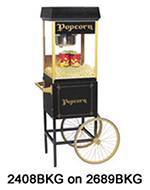 Gold Medal 2408BKG 120240 FunPop Popcorn Machine w/ 8-oz EZ Kleen Kettle & Black & Gold Finish, 120/240V