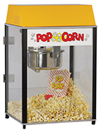 Gold Medal 2451 120208 Master Pop Popcorn Machine w/ 6-oz EZ Kleen Kettle & Yellow Dome, 120/208V