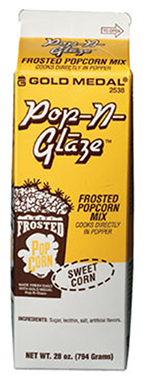 Gold Medal 2538 Pop N Glaze Sweet Frosted Popcorn Mix, (12) 28-oz Cartons/Case
