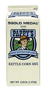 Gold Medal 2545 3.25-lb Pappys Kettle Corn Mix, 6/Case