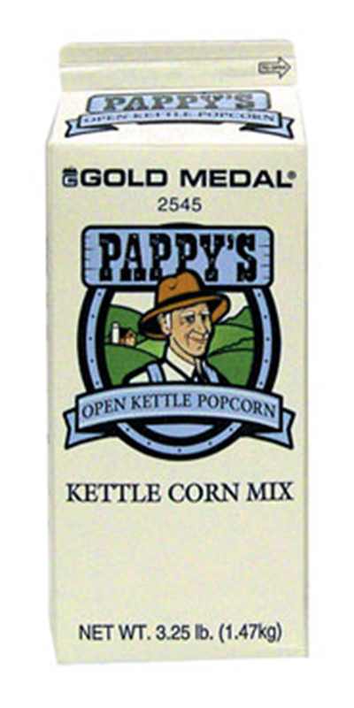 Gold Medal 2545 3.25-lb Pappys Kettle Corn Mix, 6/Case