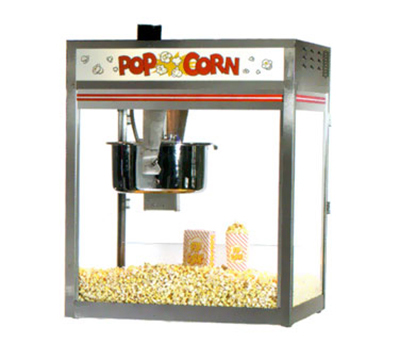 Gold Medal 2556 120240 32-oz Discovery Popcorn Popper w/ Non-Reversible Dome, Front Counter, 120/240V