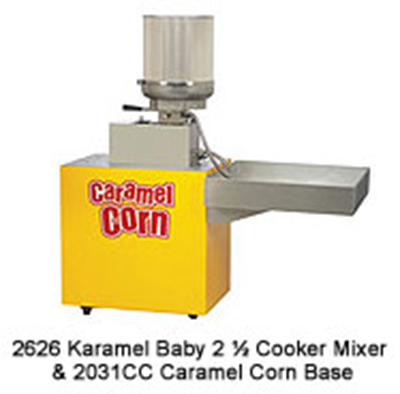 Gold Medal 2626 208 Karamel Baby Cooker Mixer w/ 2.5-gal Capacity & 20-min Cycle Time, 208/1V