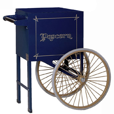 Gold Medal 2659NB Popcorn Cart w/ 2-Spoke Wheels, Navy Blue