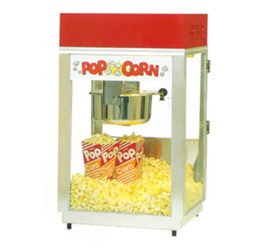 Gold Medal 2660 120208 Deluxe 60 Special Popcorn Machine w/ 6-oz Kettle & Red Dome, 120/208V