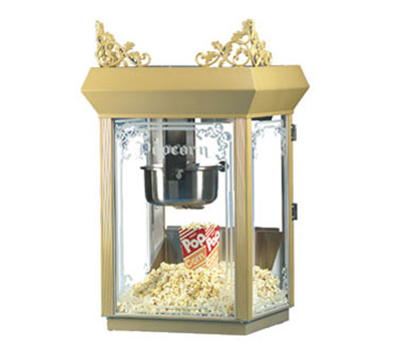 Gold Medal 2660GT 120208 Antique Deluxe Popcorn Machine w/ 6-oz Kettle & Gold Dome, 120/208V