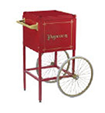 Gold Medal 2689CR Fun Pop Cart for 8-oz Popper Machine w/ Rear Access Door, Red