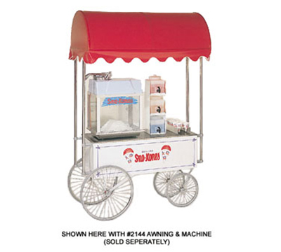 Gold Medal 2936SK Steerable Sno-Kone Wagon w/ 4-Spoke Wheels, Stainless, White